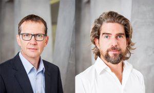 Heute führen Dr. Michael Schmidt und Nils Glagau die Geschäfte bei Orthomol. Quelle: Orthomol GmbH