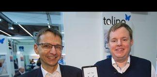 Mike Altwicker und Ralf Schiering stellen den Tolino vor. Quelle: 59plus/Mattin Ott