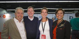 Mike Altwicker mit Georg Simader, Simone Brüggemann und Vanessa Gutekunst Quelle: 59 Plus