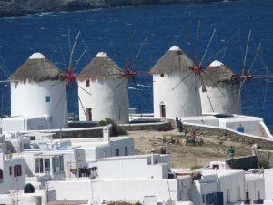 Die Windmühlen der Kykladen-Insel Mykonos sind ein beliebtes Fotomotiv. - Pixabay.com