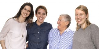 Die Kern-Redaktion: Stefanie Nienhaus, Simone Brüggemann, Ute Kördel, Tasja Schober (v. l. n. r.)