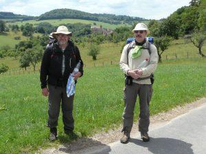 Ben und Johannes unterwegs.