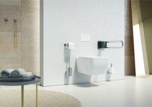 Barrierefreiheit im Bad. Modernes Design und vorausschauend für die Zukunft sind heutzutage kein Problem mehr. Bildquelle: ©FSB ErgoSystem®100