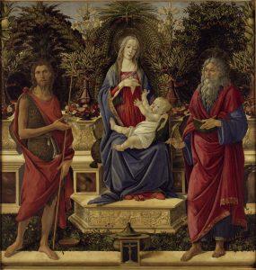 """Die Ausstellungen zeigt Werke des Künstlers Sandro Botticelli, wie z.B. """"Bardi-Altar"""". Bildquell: 1484/85 Staatliche Museen zu Berlin, Gemäldegalerie / Jörg P. Anders"""