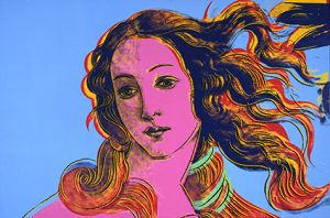 "Andy Warhols Details des Renaissance Gemälde ""Geburt der Venus"" von Sandro Botticelli 1984. Bildquelle: Collection of The Andy Warhol Museum, Pittsburgh. © 2015 The Andy Warhol Foundation for the Visual Arts, Inc. / Artists Rights Society (ARS), New York"