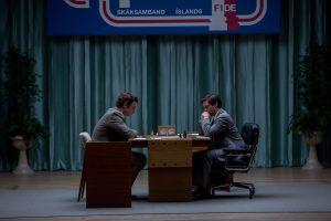 Bauernopfer - Spiel der Könige : Bild Liev Schreiber, Tobey Maguire. Das Leben des Bobby Fischer. Copyright: Bleecker Street 2015