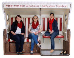 Die Initiatorinnen des Strankorb-Projektes: Saskia Niemöller, Miriam Lockhorn und Luna Baumgarten. Quelle: http://loel-lotsen.de