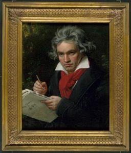 Dieses Ölgemälde von Joseph Karl Stieler zeigt den berühmten Komponisten der iun Bonn geboren wurde. Bildquelle: Beethoven Haus