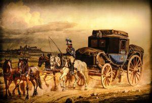 Waren wurden damals vor allem mit Pferdekutschen und Eseln über den Hellweg transportiert. Bildquelle: pixabay.de