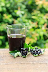 Der Aroniasaft empfiehlt sich besonders in Mischung mit anderen Fruchtsäften, wie z.B. Orangen- oder Grapefruitsaft. Quelle: shutterstock.com