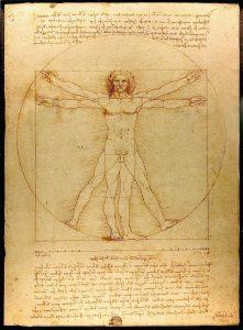 Der Vitruvianische Mensch ist eine der berühmtesten Zeichnungen des Künstlers und Naturwissenschaftlers. Bildquelle: Pixabay.de