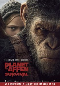 Planet der Affen: Survival - Filmplakat. Quelle: © 2017 Twentieth Century Fox