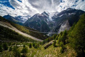 Die aktuell längste Hängebrücke befindet sich auf dem Europawanderweg. Bildquelle: zermatt.ch ©Valentin Flauraud