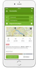 Mit der App Komoot können Sie wunderbar Wander- und Radtouren planen und gestalten. Bildquelle: Komoot