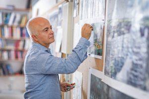 Yadegar Asisi in seinem Atelier. Bildquelle: ©asisi