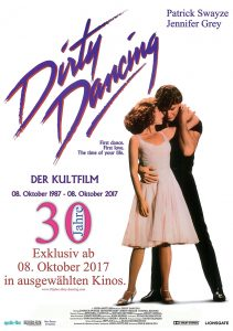 30 Jahre Dirty Dancing. Filmplakat. Quelle: Apollo-Film