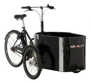 Vor allem in Skandinavien gehören Lastenfahrräder wie diese zum normalen Stadtbild. Bildquelle: nihola.com