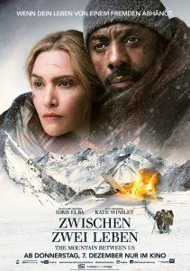 ZWISCHEN ZWEI LEBEN – THE MOUNTAIN BETWEEN US Filmplakat. Quelle: © 2017 Twentieth Century Fox