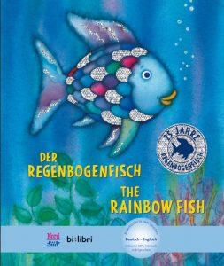 """Der Kinderbuchklassiker """"Der Regenbogenfisch"""" ist jetzt auch als deutsch-englische Version erhältlich. Bildquelle: Hueber Verlag"""