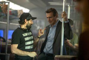 Ein erfolgreiches Team. Bereits zum vierten Mal arbeiten Liam Neeson und Regisseur Jaume Collet-Serra für THE COMMUTER zusammen. Quelle: Studiocanal GmbH/Jay Maidment