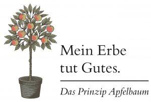 """""""Mein Erbe tut Gutes. Das Prinzip Apfelbaum"""" beschäftigt sich mit dem Thema Nachlass und Erbe. Bildquelle: Initiative Mein Erbe tut Gutes."""