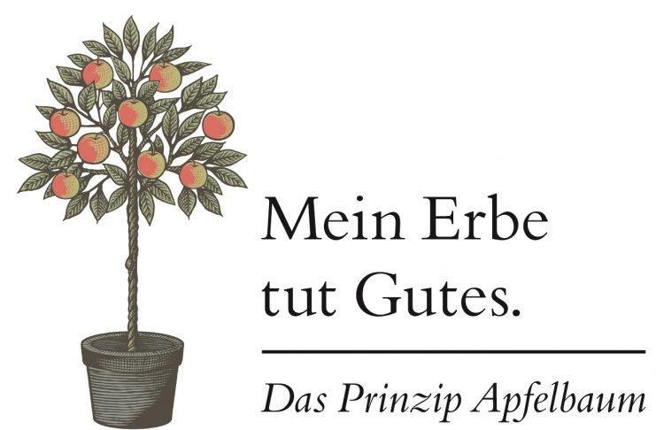 """""""Mein Erbe tut Gutes. Das Prinzip Apfelbaum"""" beschäftigt sich mit dem Thema Nachlass und Erbe. Bildquelle: © Initiative """"Mein Erbe tut Gutes."""