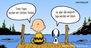 Wunderschöne Botschaft wie auch der Palliativmediziner Sven Gottschling findet. Bildquelle: www.snoopy.com