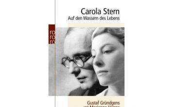 """Die Doppelbiografie """"Auf den Wassern des Lebens"""" von Carola Stern. Bildquelle: Rowohlt Verlag"""