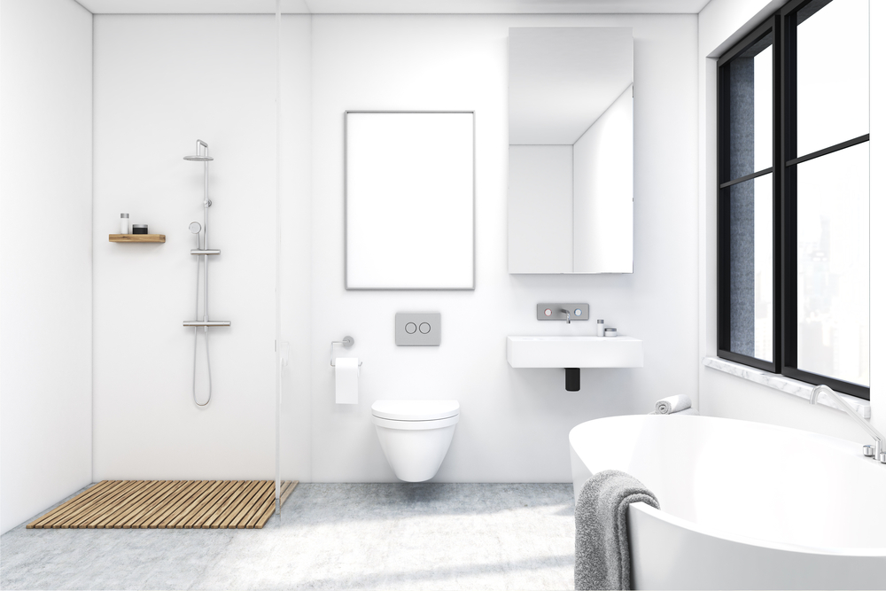 Eine Dusche ohne Barriere oder eine Toilette in der richtigen Höhe, lassen das Badezimmer auch im Alter eine Wohlfühloase ohne Stolperfalle sein. Bildquelle: © Shutterstock