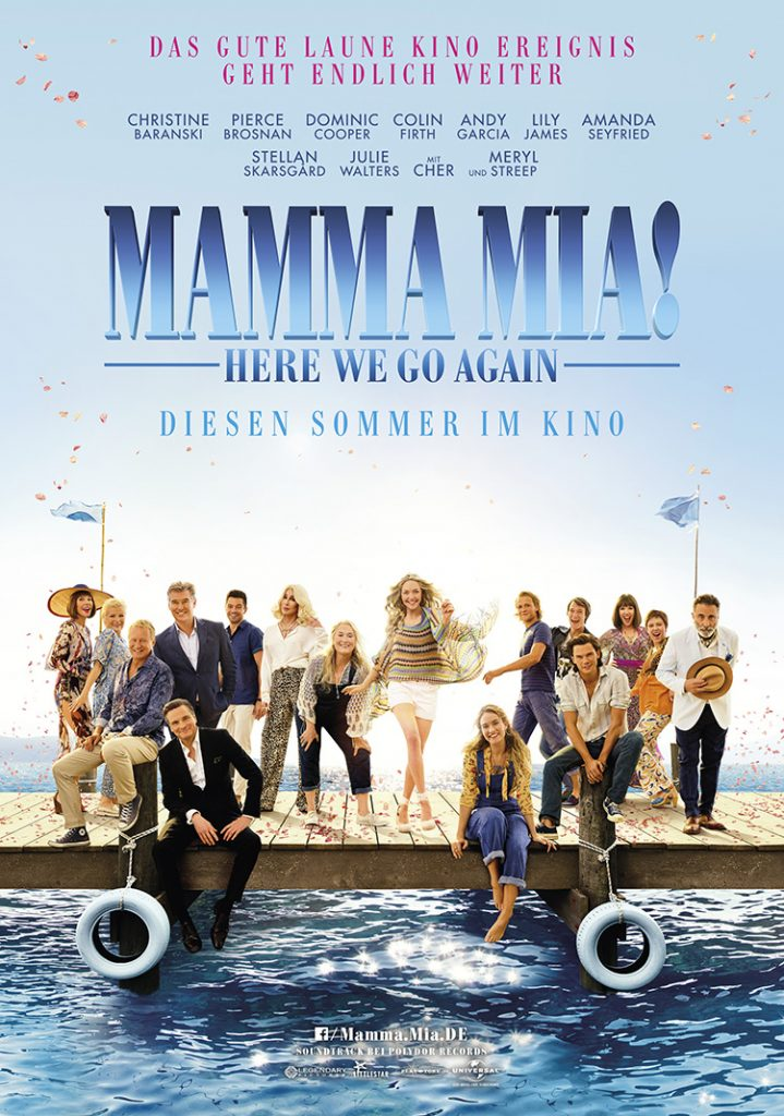 MAMMA MIA! HERE WE GO AGAIN Filmplakat. Quelle: © 2018 Universal Pictures International