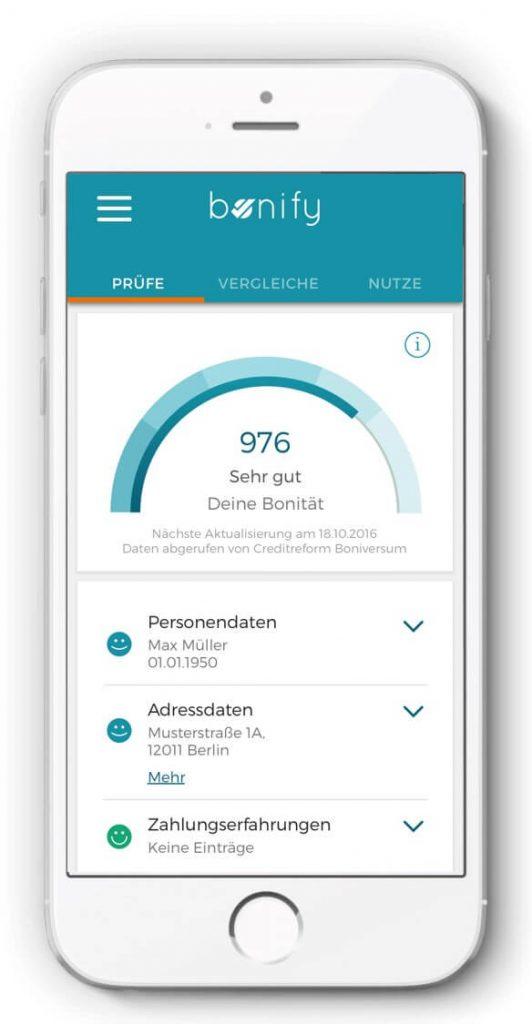 bonify ist kostenlos und auf dem Smartphone abrufbar. Bildquelle: Forteil GmbH