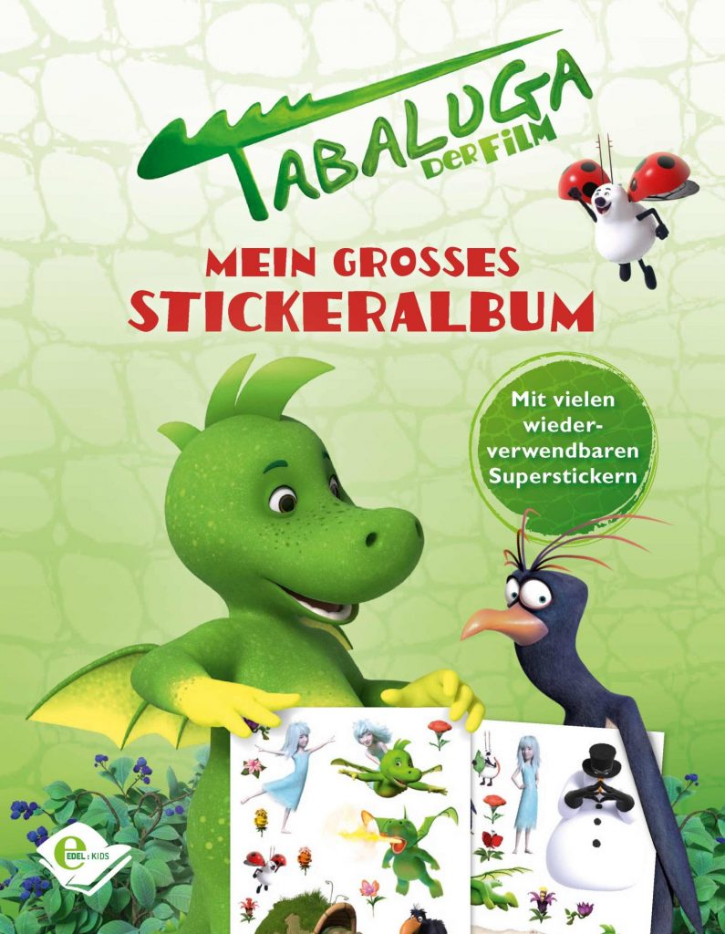 Das große Stickeralbum zu Tabaluga – Der Film. Bildquelle © 2018 Tabaluga Enterprises & Tempest Film & Deutsche Columbia Pictures. All Rights Reserved.