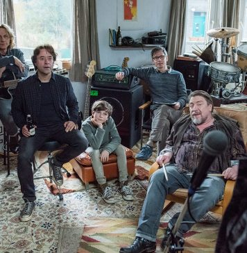 SO VIEL ZEIT: Die Band (Richy Müller, Jan Josef Liefers, Matthias Bundschuh und Armin Rohde) sucht einen neuen Leadsänger. Quelle: © 2012 UNIVERSUM FILM GMBH