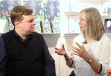 Karen Nölle im Gespräch mit Mike Altwicker auf der Frankfurter Buchmesse 2018. Bildquelle: 59plus.de