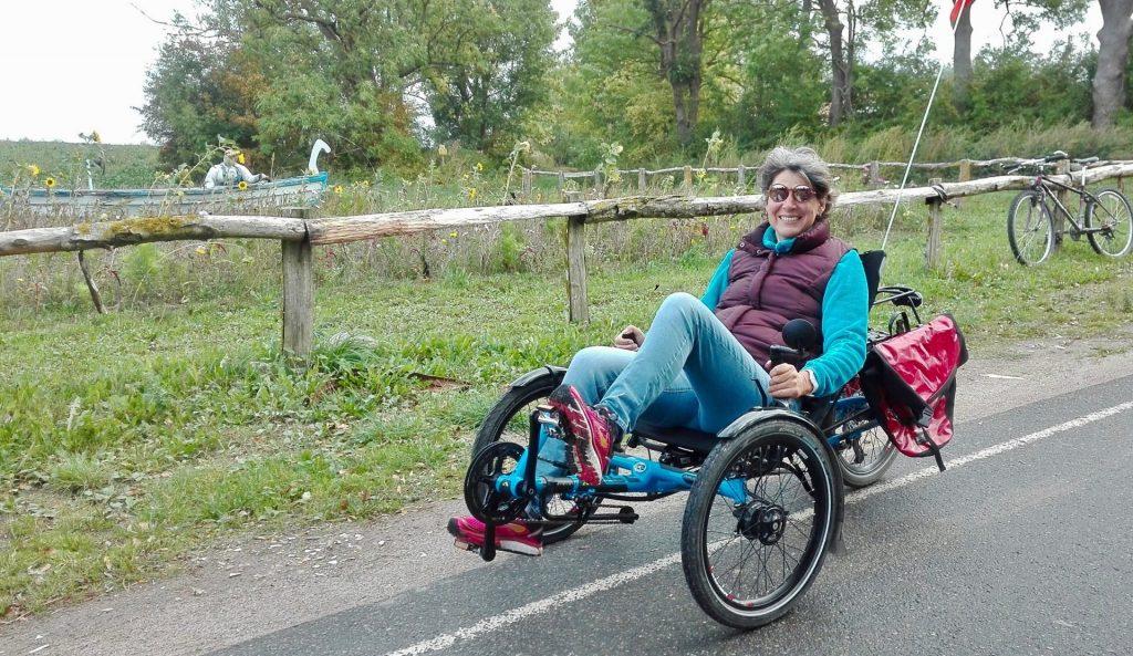 Spaß ist garantiert und es ist eine völlig andere Art ein Urlaubsgebiet zu erkunden - das Liegedreirad. Bildquelle: Beate Ziehres / Annette Roesler