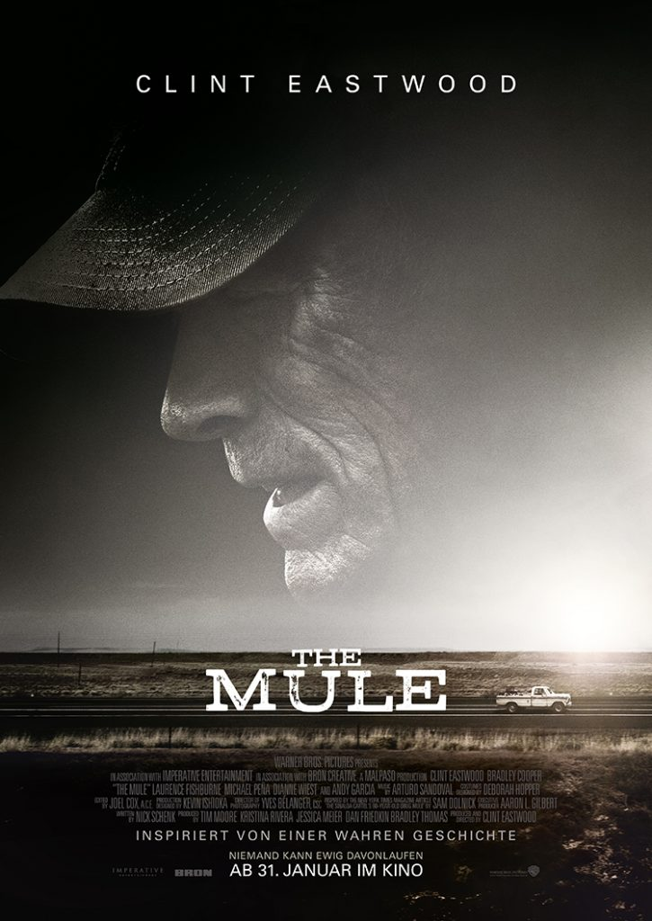 THE MULE Filmplakat. Quelle: © 2018 Warner Bros. Entertainment Inc., Imperative Entertainment, LLC, and BRON Creative USA, Corp. All Rights Reserved.