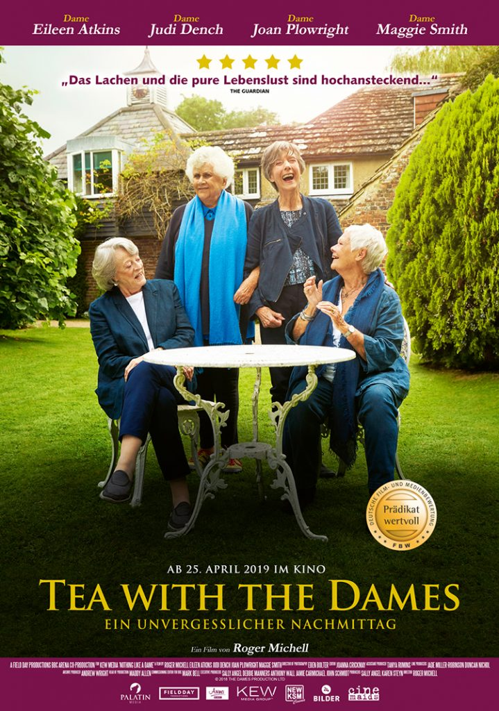 TEA WITH THE DAMES Filmplakat: Quelle KSM GmbH © Credit Mark Johnson