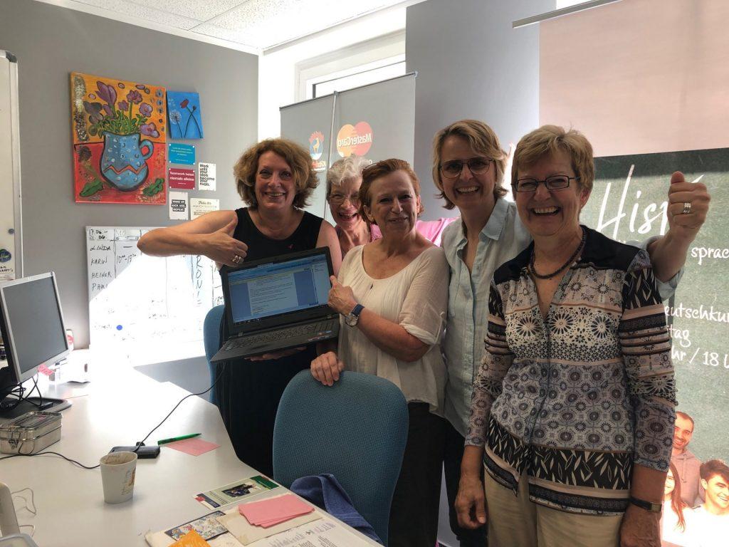Ein bewährtes und vor allem engagiertes Team unterstützt Karin Jungjohann in ihrem Projekt. Bildquelle: © Hispi Düsseldorf